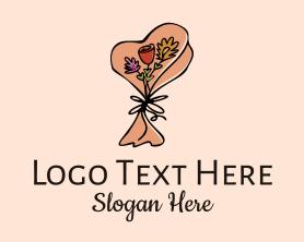 Bouquet - Flower Bouquet Doodle logo design