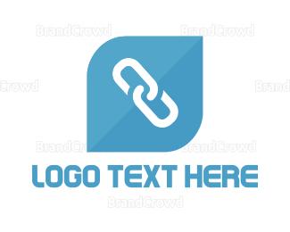 Chain - Blue Link logo design