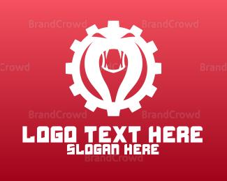 Venom - Red Cobra Gear  logo design