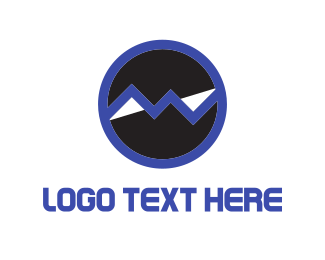 Black And Blue - Blue Statistics logo design