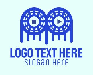 Twitch - Game Controller Film logo design