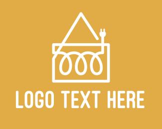 Voltage - Electric House  logo design
