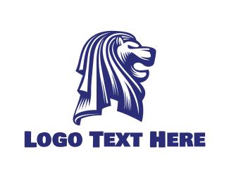 Merlion - Singapore Merlion logo design
