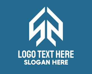 Logistic Service - White Airplane Arrow logo design