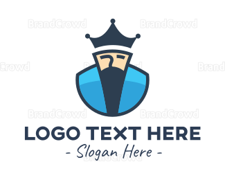 King - Minimalist Blue King logo design