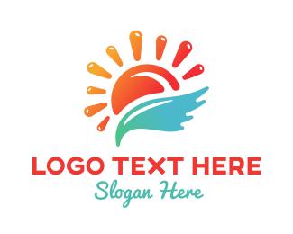 Sun Splash Resort Logo Maker