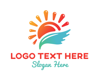 Sun Splash Resort Logo Maker