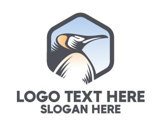 Penguin - King Penguin logo design
