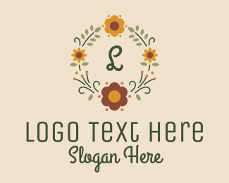 Cosmetic - Embroidered Flower Lettermark logo design