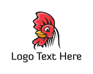 Hen - Chicken Head logo design