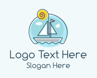 Waters - Sailing Boat logo design