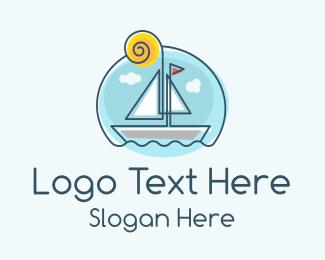 Boat - Sailing Boat logo design