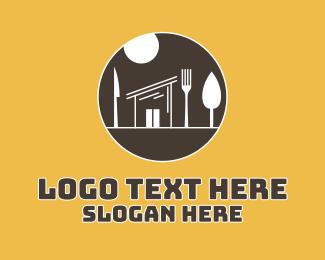 Diner - Cutlery Diner Shack logo design