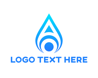 Candle - Blue Flame A logo design