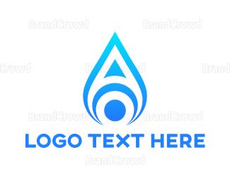 Petroleum - Blue Flame A logo design