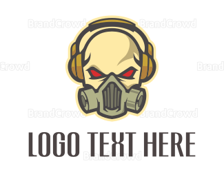 Esports - Skull Headphones logo design