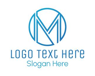 Lawyer - Blue M Circle logo design