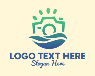 Travel Vlogger - Ocean Eco Camera  logo design