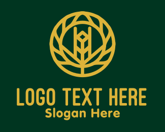 Gold - Gold Wheat Agriculture logo design
