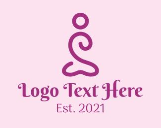 Gymnast - Minimalist Yoga Pose logo design