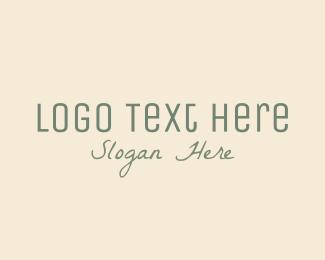 Lodge - Green Spa Wordmark logo design