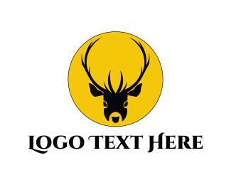 Whiskey - Deer Head  logo design