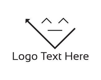 Rewind - Arrow Face logo design
