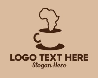 Saucer - African Coffee  logo design
