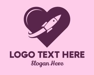 Dating Forum - Rocket Love  logo design