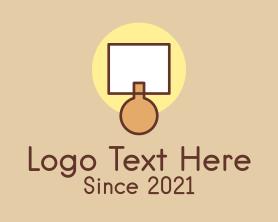 Interior - Lamp Interior Design logo design