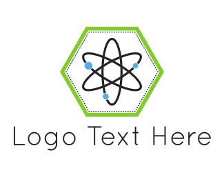 Physics - Hexagonal Atom logo design