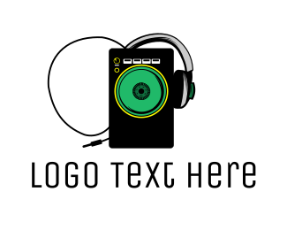 Compact Disc - Music Radio DJ Speaker logo design