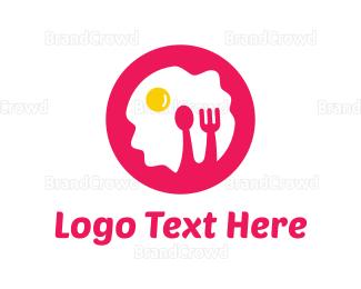 Egg - Pink Breakfast logo design