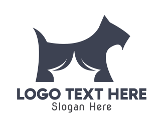 Dog Shelter - Blue Terrier logo design