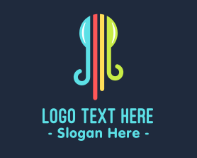 Squid - Abstract Colorful Octopus logo design