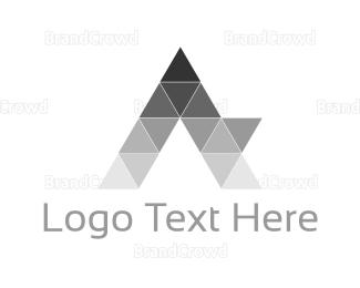 Branding - Geometric Letter A logo design