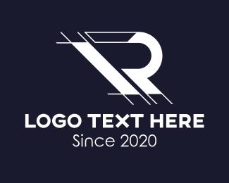 App Developer - Architecture Drafting Letter R logo design
