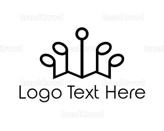 Tiara - Musical Crown logo design