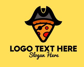 Hungry - Pizza Pirate Pizzeria logo design