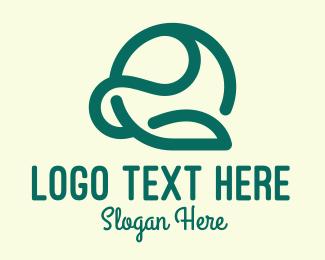 Leafy - Leafy Green Letter E  logo design
