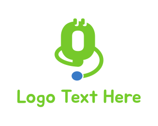 Green Instrument - Green Medical Device Stethoscope logo design