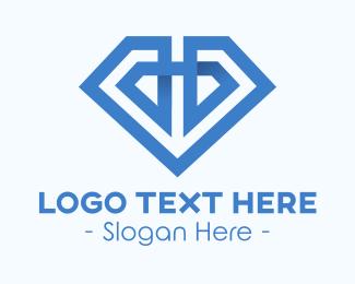 3d Style - 3D Blue Diamond logo design