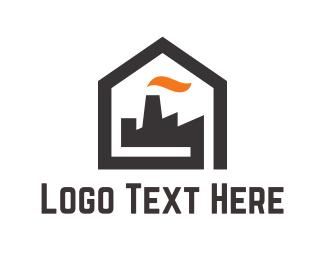 Oil Company - Home Factory logo design