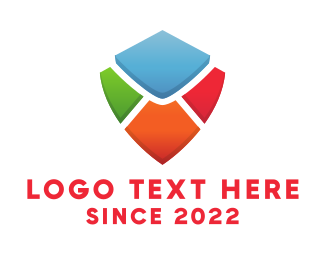 Envelope - Colorful Shield logo design