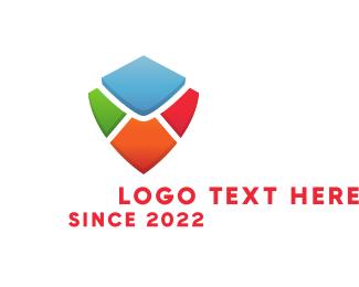 Shield - Colorful Shield logo design