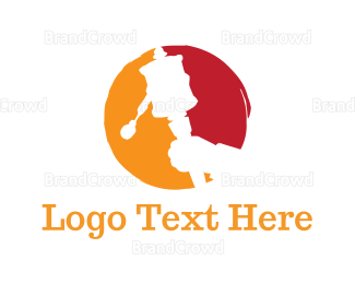 Buddhism - Prayer Wheel logo design