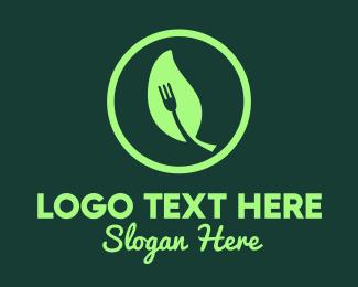 Resto - Leaf Fork Vegan Resto logo design