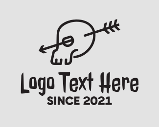 Tattoo - Creepy Arrow Skull logo design