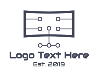 Wireframe - TV Tech logo design