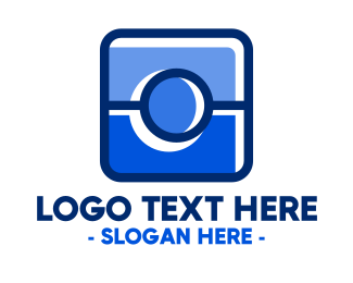 Social Media - Blue Camera Photography App logo design